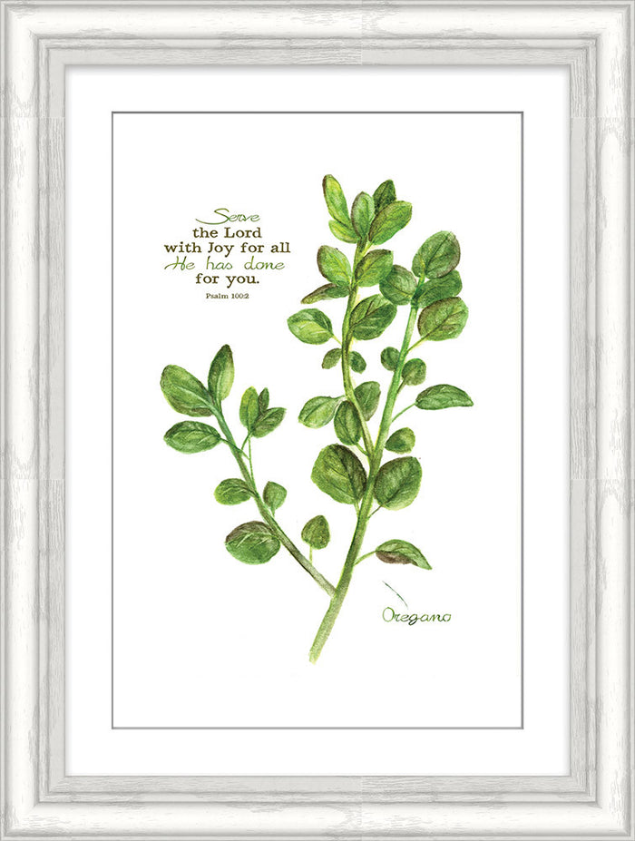 Serve the Lord Oregano Framed Art