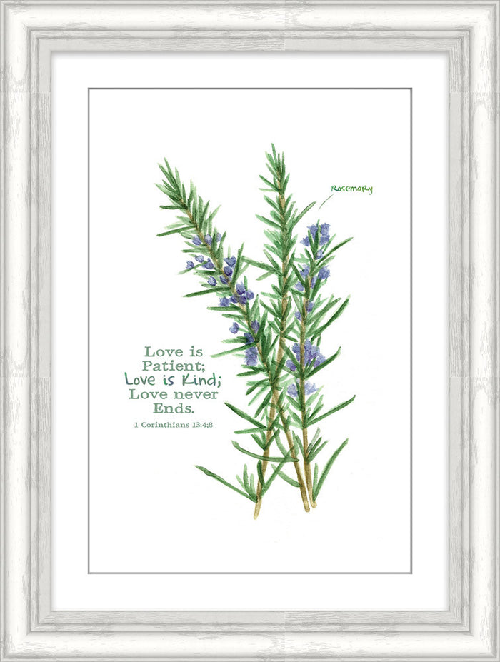 Love is Patient Rosemary Framed Art