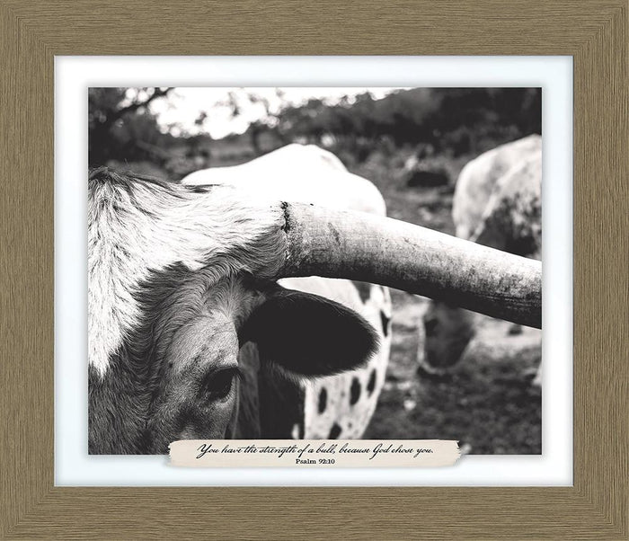 You Have the Strength of a Bull Farm Line Framed Art