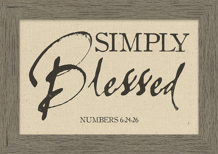 Simply Blessed Framed Natural Canvas (46527)
