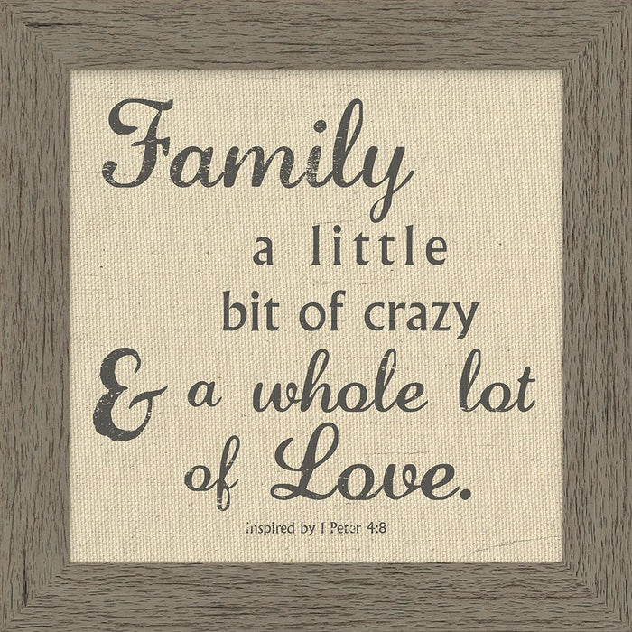 Crazy Family Framed Canvas Art (46533) - Carpentree