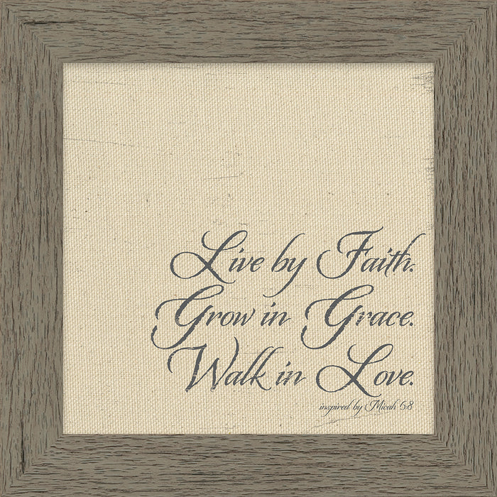 Live By Faith Framed Canvas Art (46537)