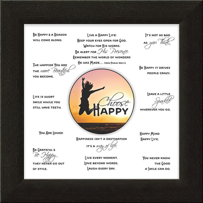Choose Happy Framed Art - Carpentree