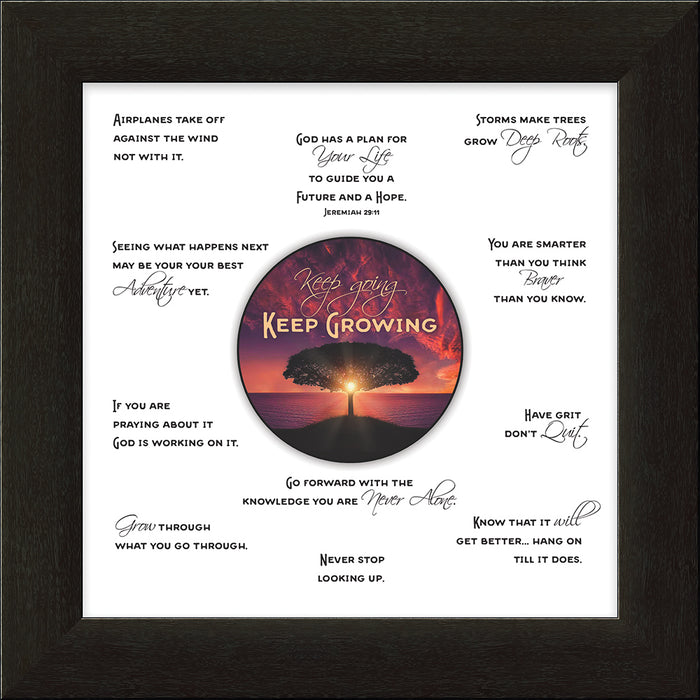 Keep Growing Framed Art (46544) - Carpentree