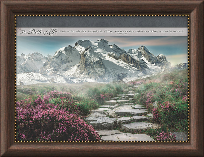 The Path of Life Framed Art (46549) - Carpentree