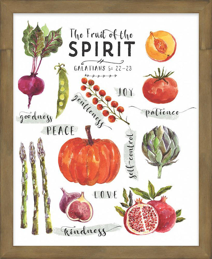 Farmer's Market Collection Fruit of the Spirit Framed Plaque (46570) - Carpentree