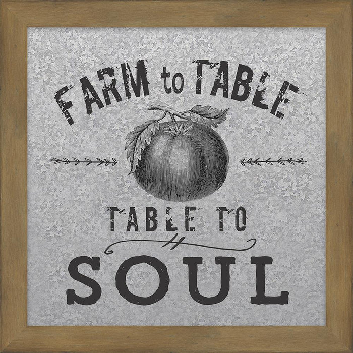 Farmer's Market Collection Farm to Table Galvanized Metal Plaque (46571) - Carpentree