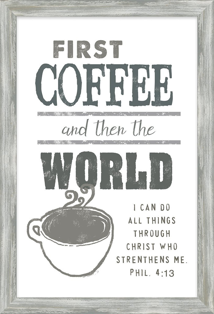 Coffee and Me Collection First Coffee Framed Art (46583) - Carpentree