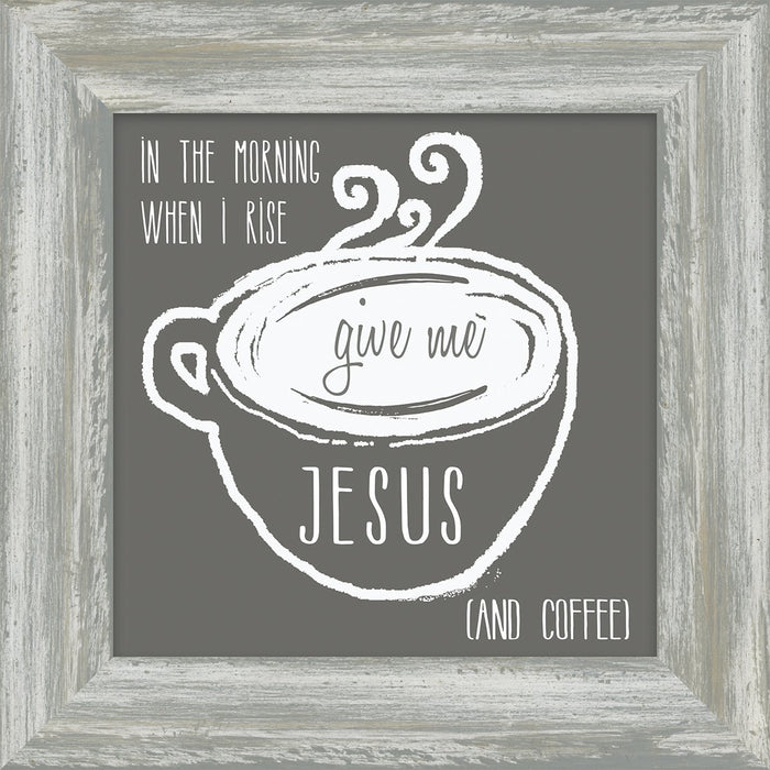 Coffee and Me Collection Give me Jesus and Coffee Box Plaque (46594) - Carpentree