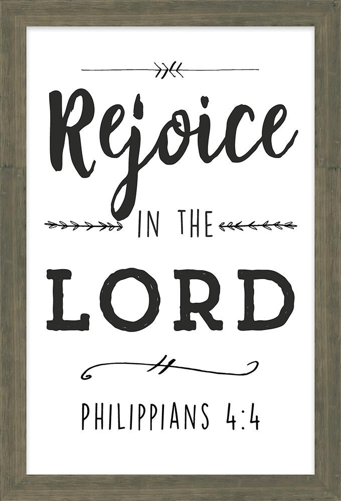 Simple Scriptures Collection Rejoice in the Lord Framed Art (46602) - Carpentree