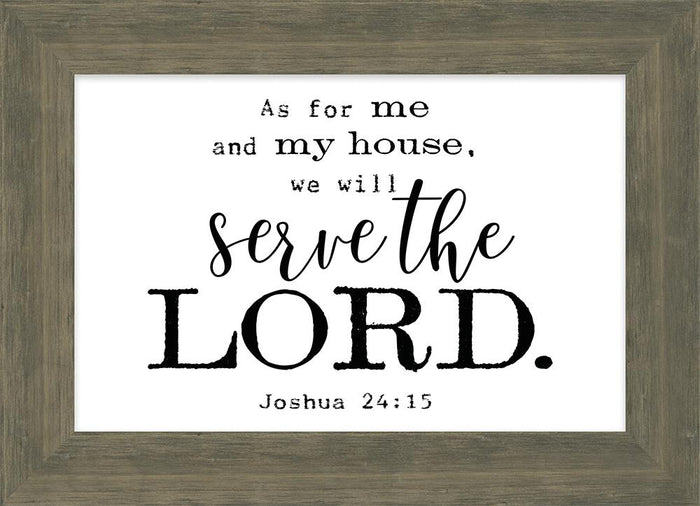 Simple Scripture Collection Serve the Lord Framed Plaque (46604) - Carpentree