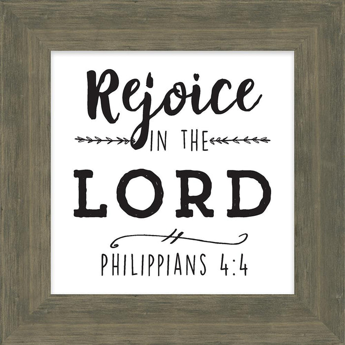 Simple Scriptures Collections Rejoice in the Lord Box Plaque (46608) - Carpentree