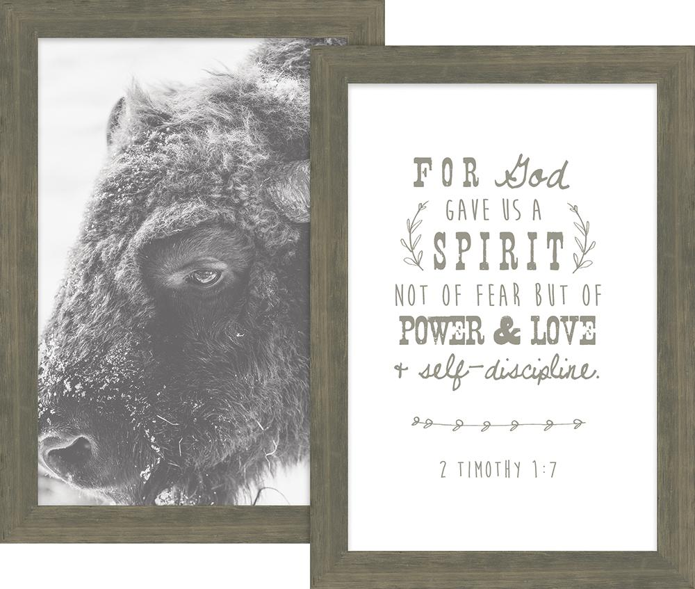 Rustic Pairings Collection For God Gave Us a Spirit Framed Art Set ...