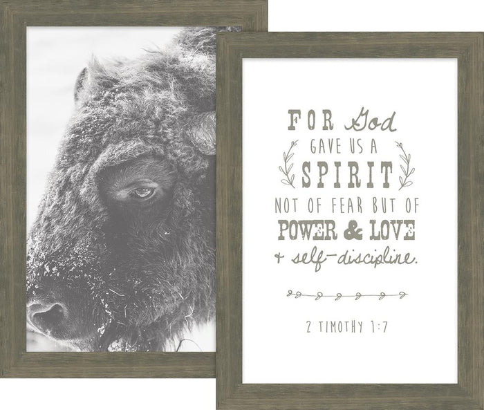 Rustic Pairings Collection For God Gave Us a Spirit Framed Art Set (46627) - Carpentree