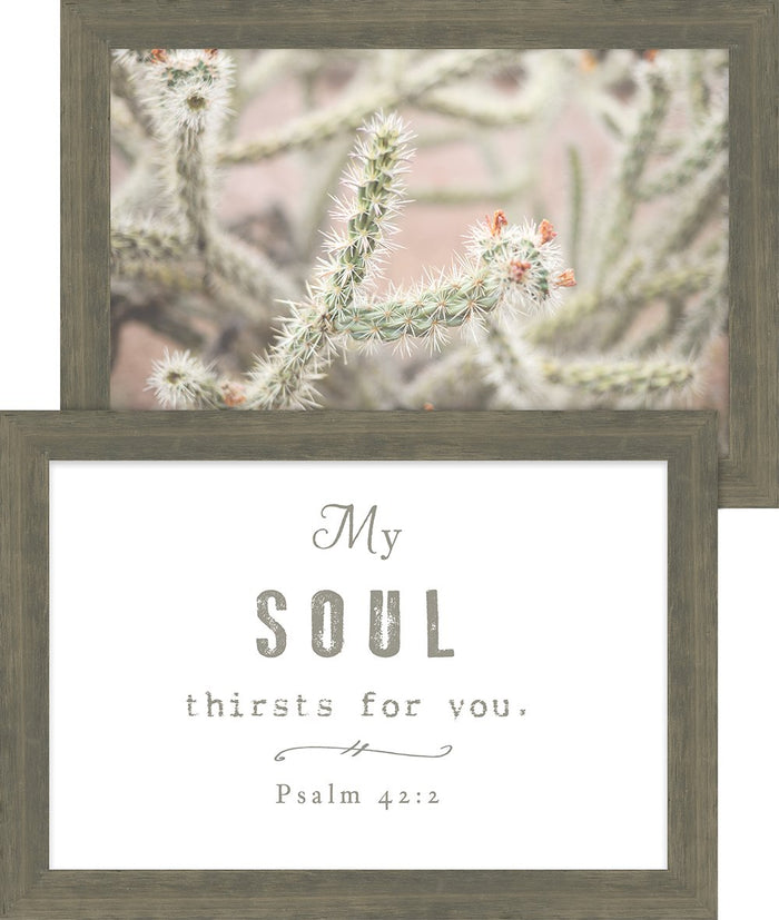 Rustic Pairings Collection My Soul Thirsts For You Framed Art Set (46629) - Carpentree