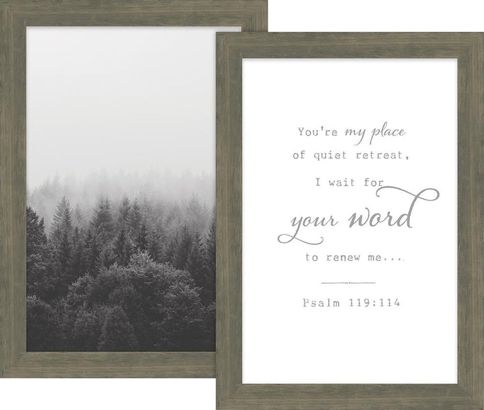 Rustic Pairings Collection You're My Place of Quiet  Framed Art Set (46630) - Carpentree