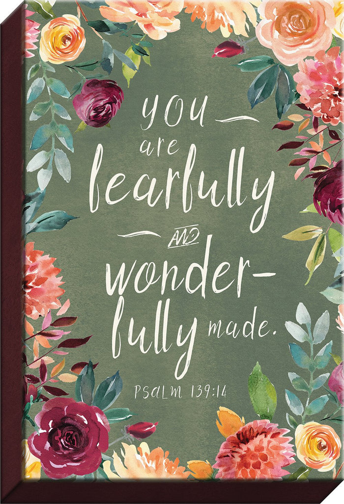 Fresh Floral Collection Fearfully and Wonderfully Made Canvas - Carpentree