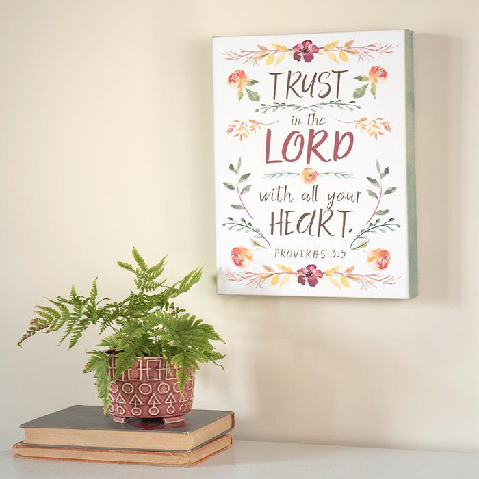 Fresh Floral Collection Trust in the Lord Canvas - Carpentree