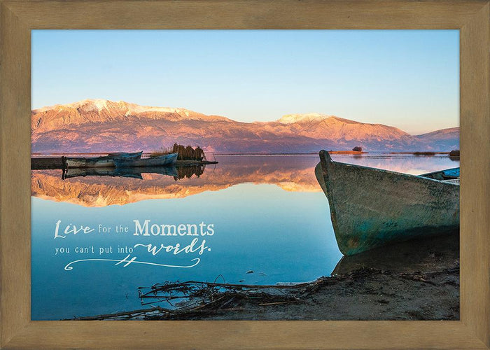 Live for the Moment Framed Plaque