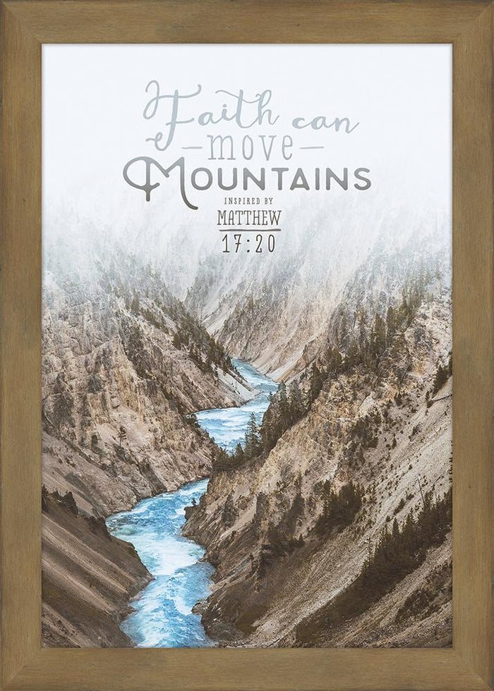 Faith Can Move Mountains Framed Plaque - Carpentree