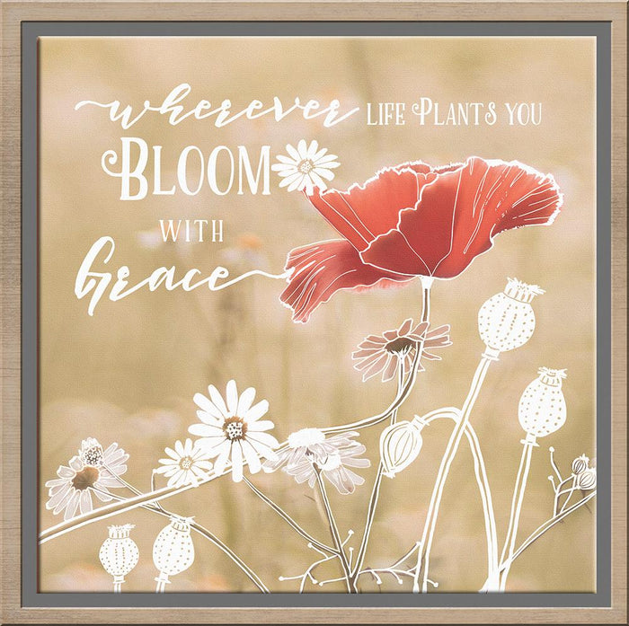 Bloom With Grace Canvas - Carpentree