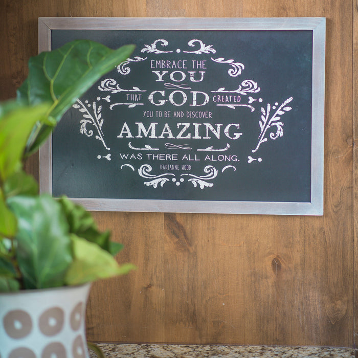 Embrace the You Chalkboard Style Thistlewood Farms Framed Art - Carpentree