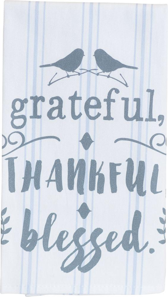 Grateful, Thankful, Blessed Thistlewood Farms Tea Towel - Carpentree