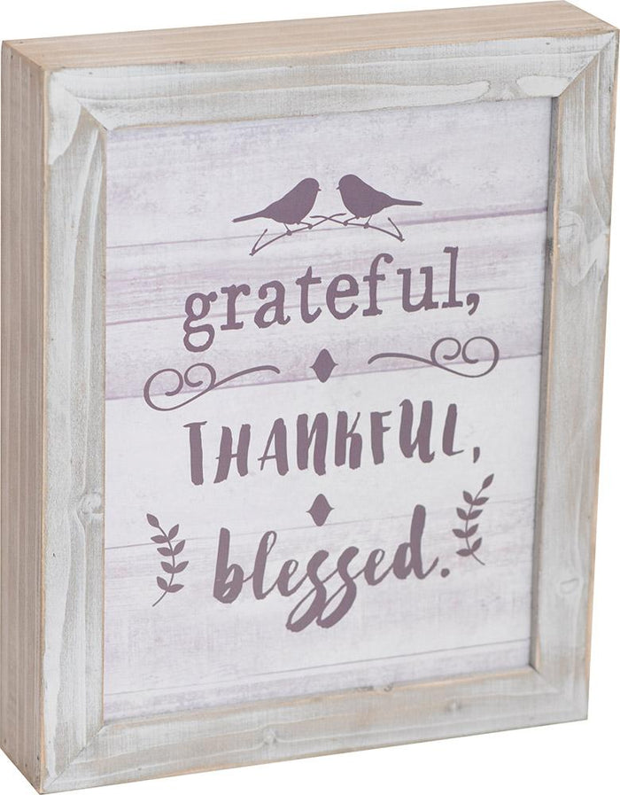 Grateful Thankful Blessed Thistlewood Farms Framed Art - Carpentree