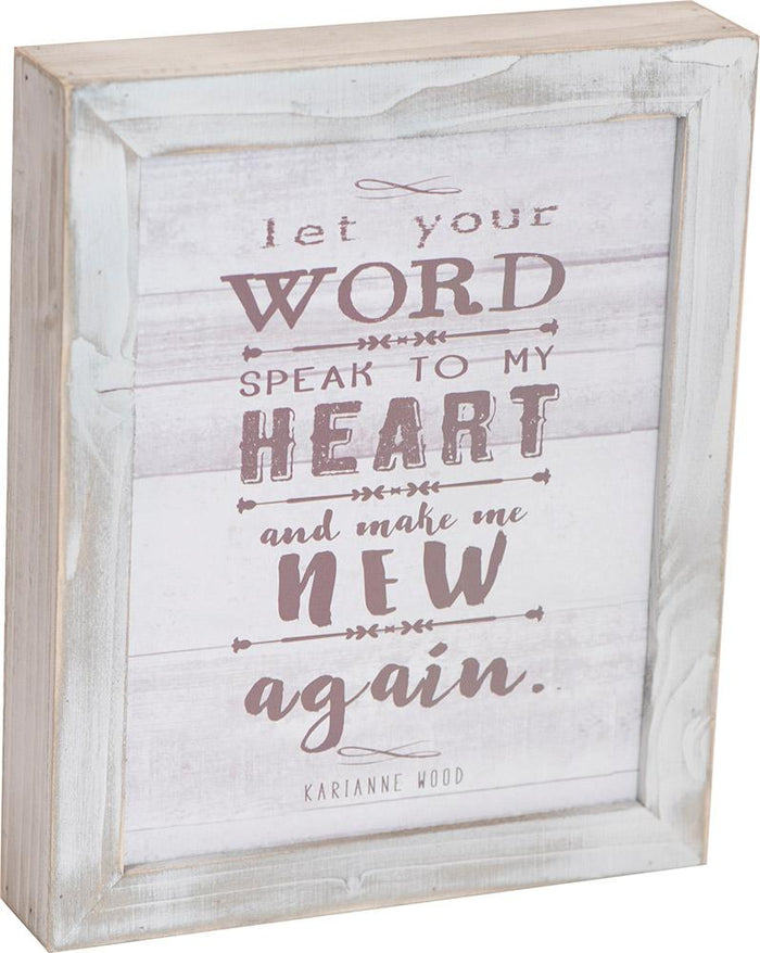 Speak to My Heart Thistlewood Farms Framed Art