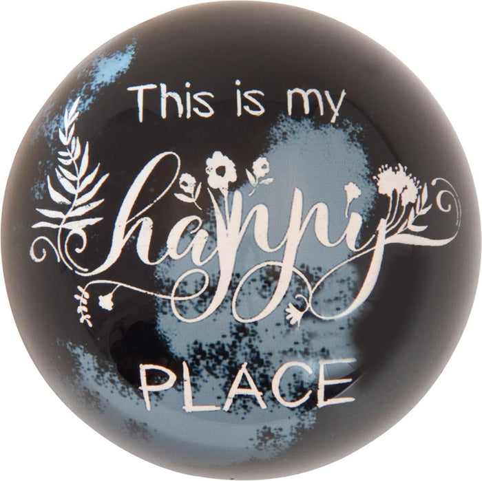 Happy Place Thistlewood Farms Paperweight