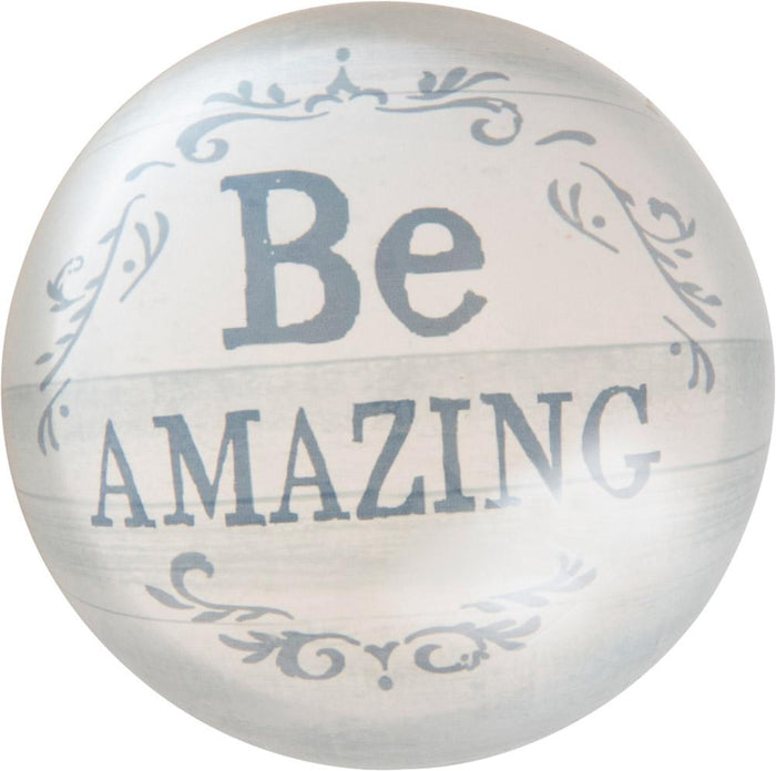 Be Amazing Thistlewood Farms Paperweight - Carpentree