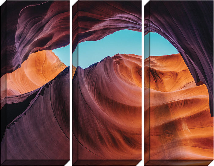 Canyon Triptych Canvas - Carpentree