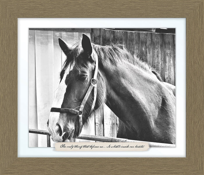 Red Horse Farm Line Framed Art
