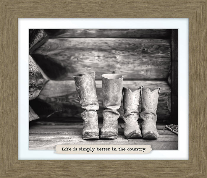 Boots Farm Line Framed Art