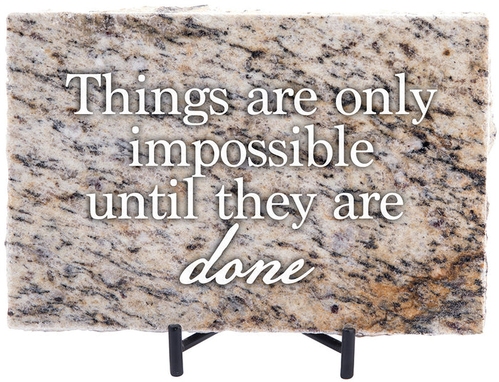 Nothing is Impossible Granite Gift - Carpentree