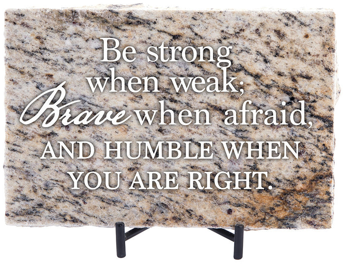Be Strong, Brave Granite Gift - Carpentree