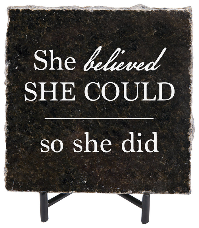 She Believed She Could Granite Gift - Carpentree