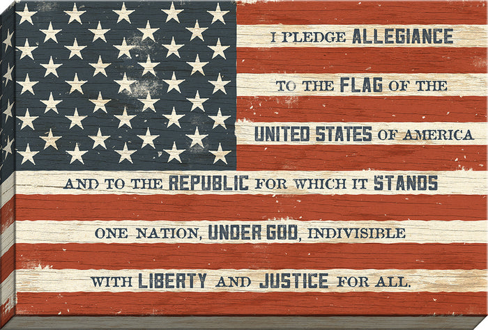 I Pledge Allegiance Flag Canvas (50079) - Carpentree canvases