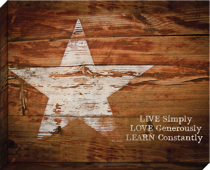 Live Simply Canvas (50084)