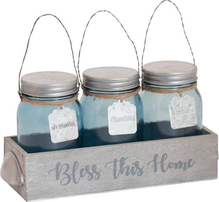 Bless This Home Thistlewood Farms Glass Jar Set - Carpentree