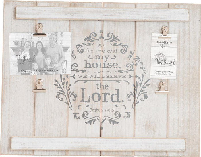 As For Me and My House Thistlewood Farms Shiplap Photoframe - Carpentree