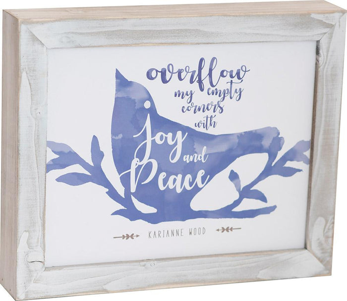 Joy and Peace Thistlewood Farms Framed Art