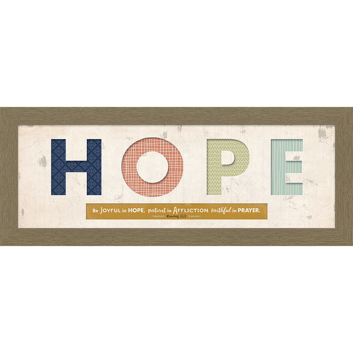 Hope Cut Out Framed Art