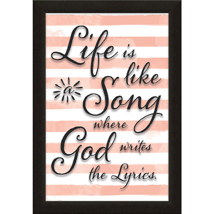 Life Is Like a Song Printed Glass Framed Art
