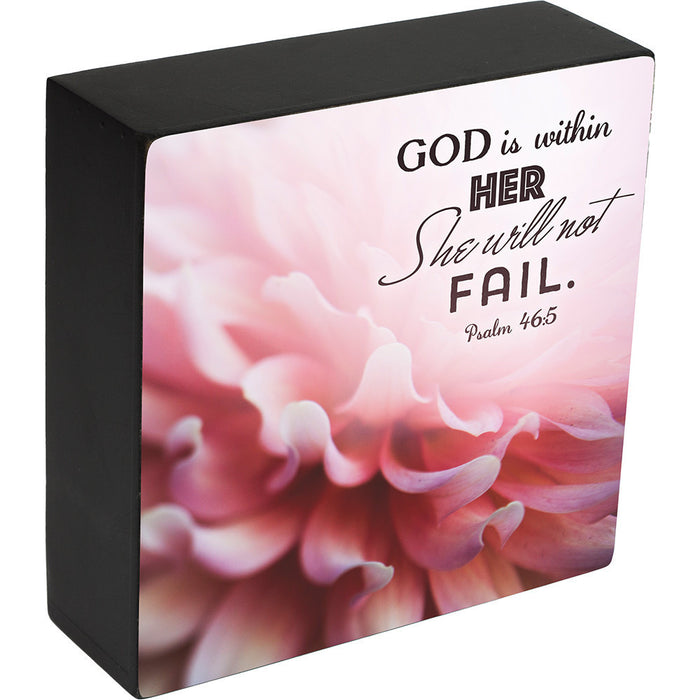 God Is Within Her Box Plaque