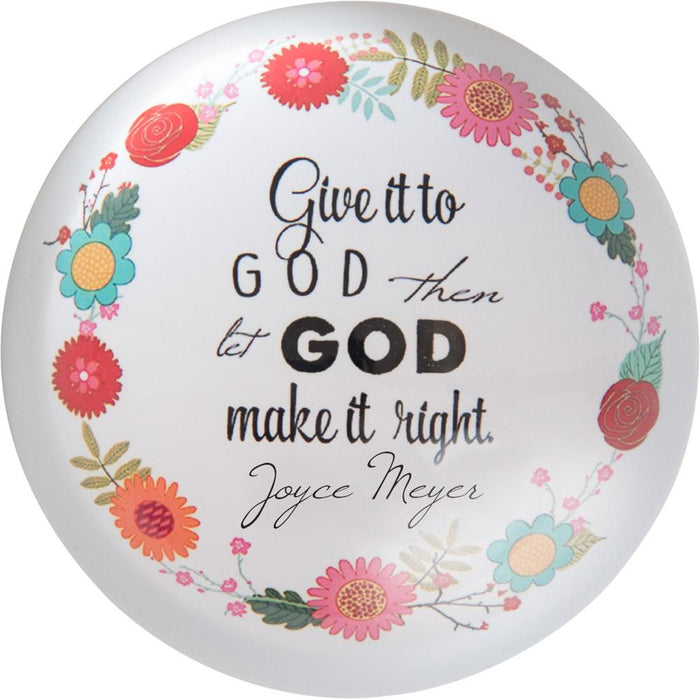 Give it to God Joyce Meyer Paperweight - Carpentree