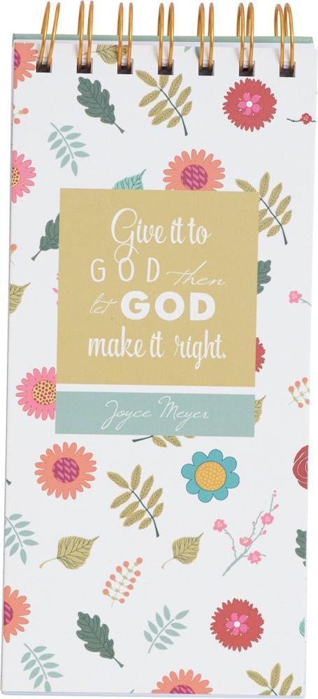 Give it to God Joyce Meyer Spiral Note Pad - Carpentree