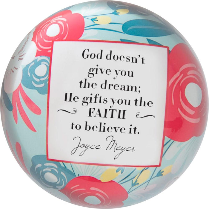 He Gifts You the Faith Joyce Meyer Paperweight - Carpentree