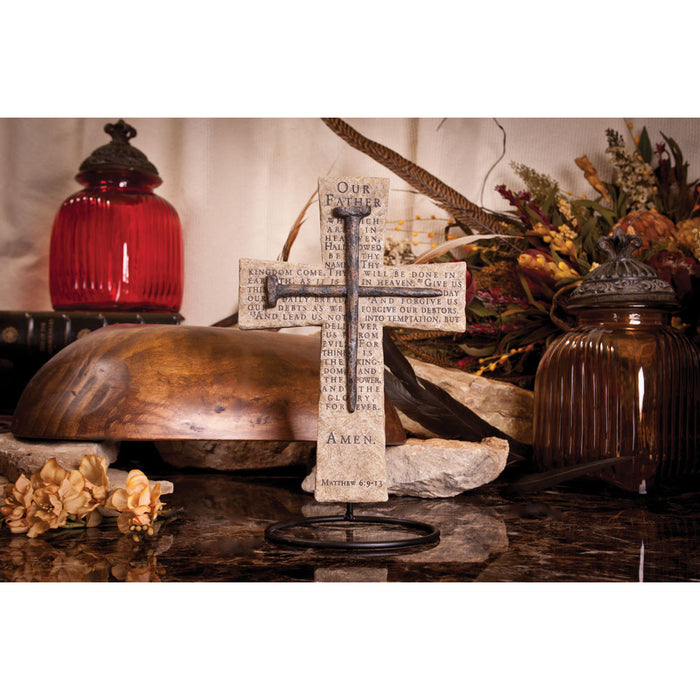 Lord's Prayer Nail Cross