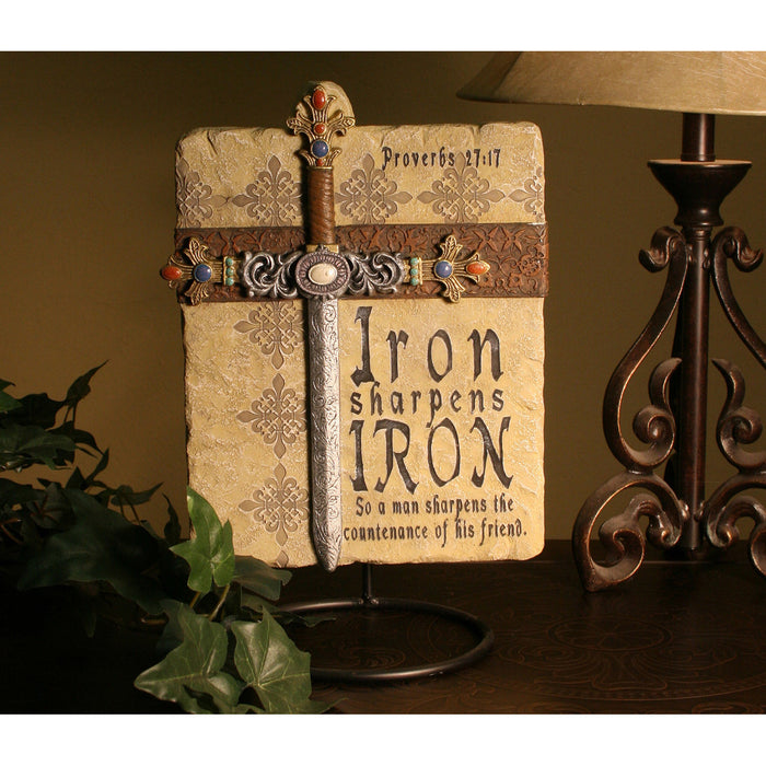 Iron Sharpens Iron Plaque